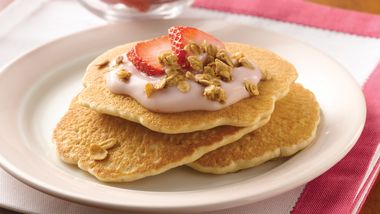 Yogurt-Topped Granola Pancakes
