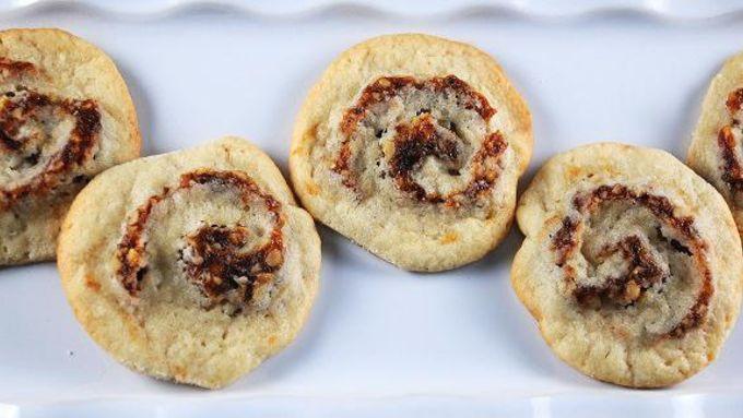Pinwheel Cookies with Dates