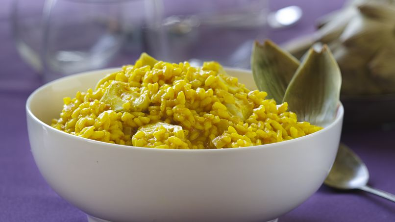 Artichoke Risotto with Turmeric