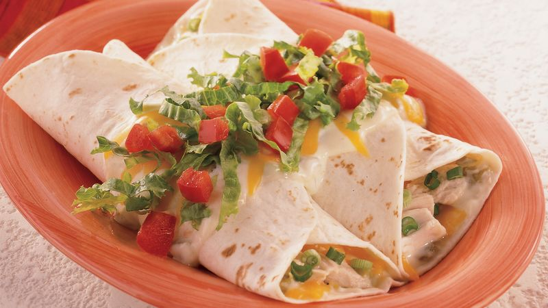 Light and Creamy Chicken Enchiladas