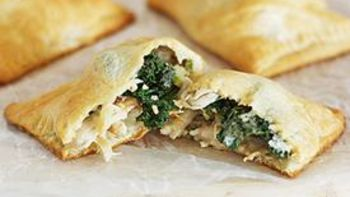 Chicken Kiev and Kale Pockets