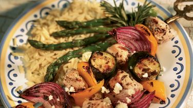Mediterranean Chicken Vegetable Kabobs