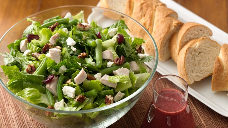 Turkey, Cranberry and Pecan Chopped Salad