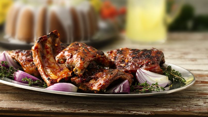 Costillas de Puerco con Salsa Barbecue al Chipotle