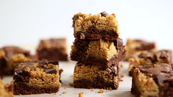 Double-Chocolate Chunk-Peanut Butter Bars