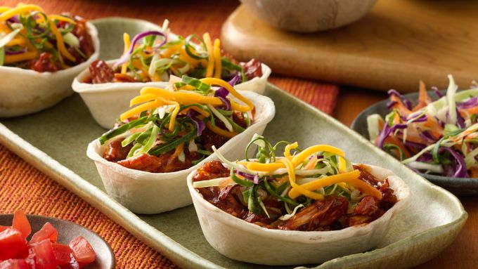 Mini Barbecue Chicken Ten Minute Taco Boats™