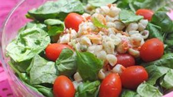 Layered Chicken Pasta Salad