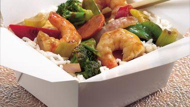 Sesame-Ginger Shrimp and Vegetable Stir-Fry