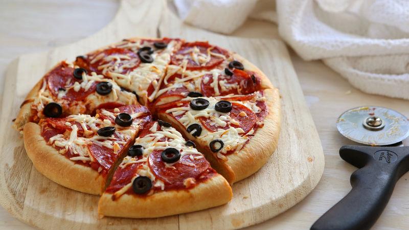 Make-Ahead Freezer Pizzas recipe from Betty Crocker