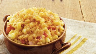 Cheesy Macaroni with Ham