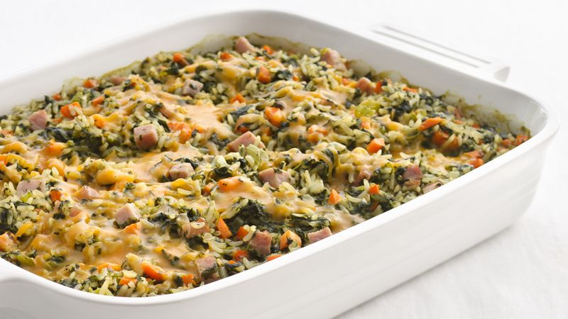 Skinny Spinach and Rice Casserole