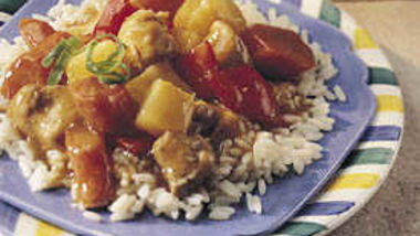 Slow-Cooker Chicken Stew with Pepper and Pineapple