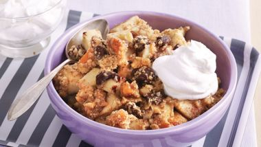 Dark Chocolate Caramel Apple Crisp