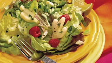 Mixed-Greens Salad with Honey-Lime Vinaigrette