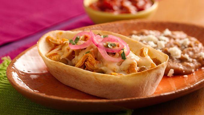 Easy Chicken Enchilada Boats