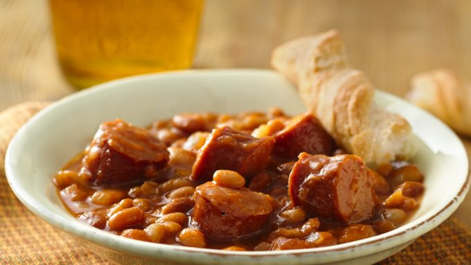 Baked Beans with Smoked Sausage