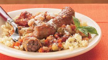 Sausage Ratatouille with Couscous