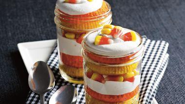Candy Corn Cupcake Trifles