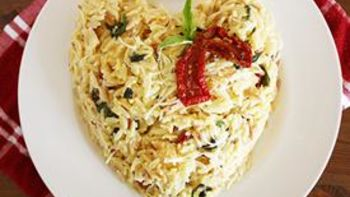 Orzo with Basil, Parmesan and Sun-Dried Tomatoes