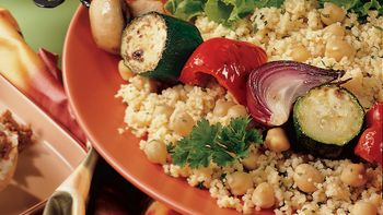 Veggie Kabobs with Cumin-Scented Couscous
