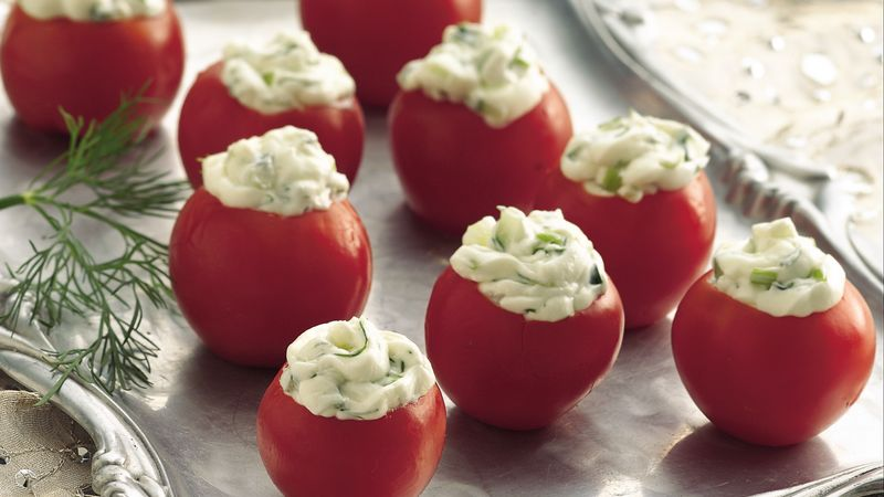 Cucumber-Dill Stuffed Cherry Tomatoes