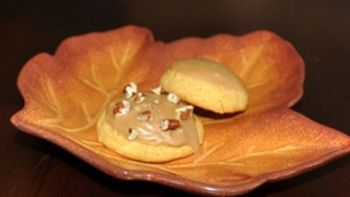 Pumpkin Cookies with Boiled Brown Sugar Frosting