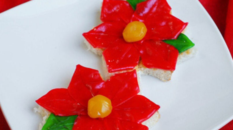 Flores de Nochebuena con Fruit Roll-Ups®