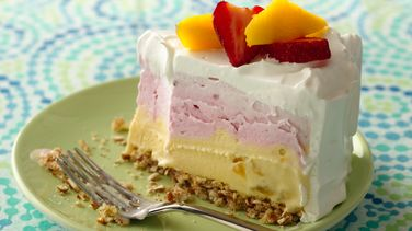Strawberry-Mango Ice Cream Cake