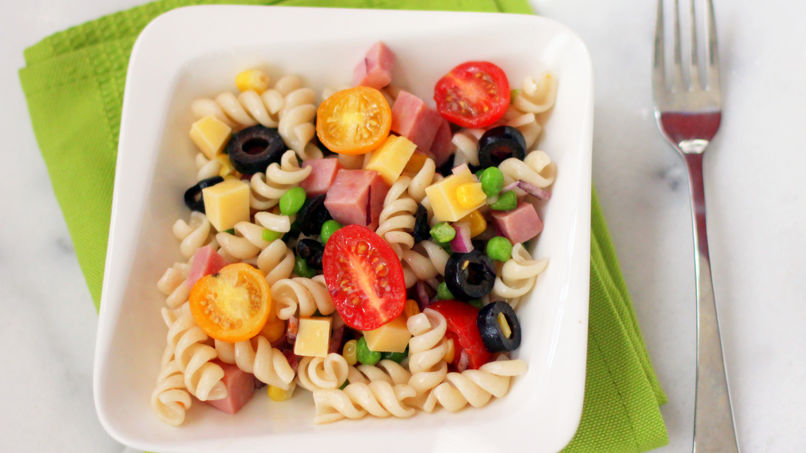 Pasta Salad with Ham and Veggies