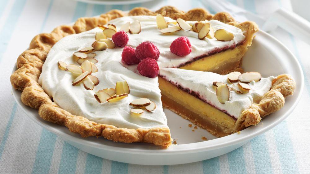 Raspberry-Lemon Cream Pie with Almond Crust