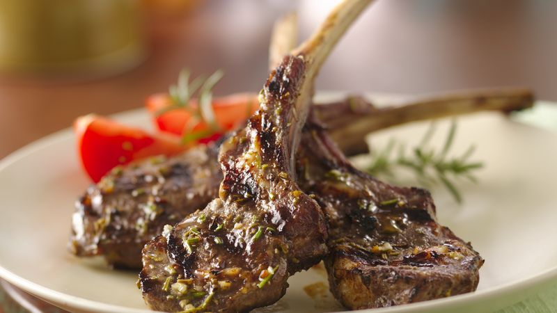 Grilled Rosemary Lamb Chops recipe from Betty Crocker