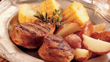 Grilled Balsamic Pork with Herbs