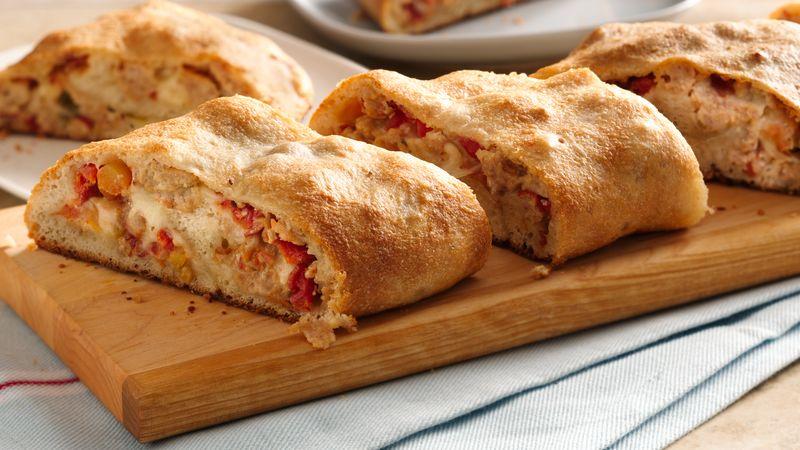 Spicy Chicken Pizza Roll Up