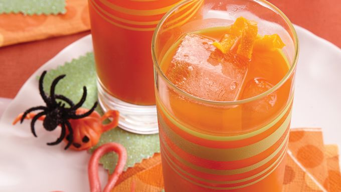 Orange-Carrot Juice Halloween Cocktail