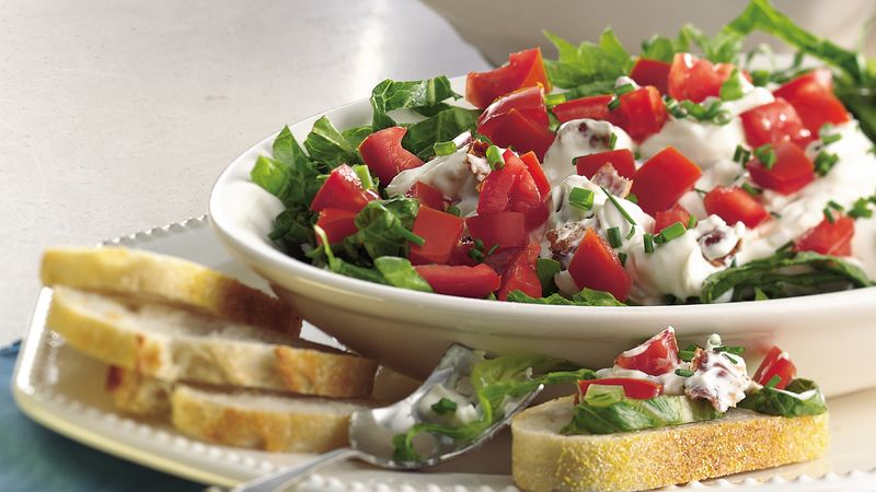 Bacon, Lettuce and Tomato Dip recipe from Betty Crocker