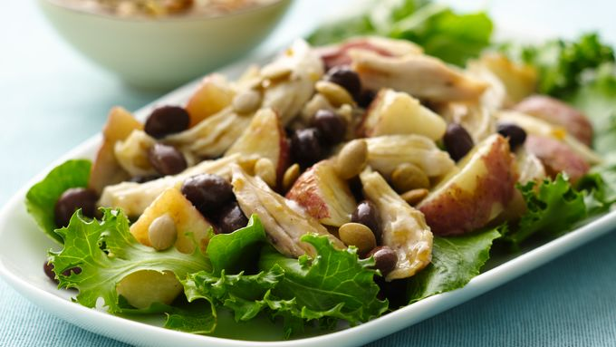Roasted Potato Chicken Salad with Salsa Verde