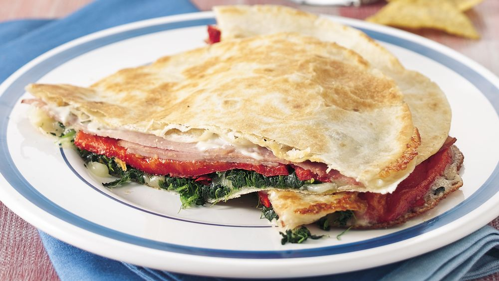 Ham and Spinach Melts