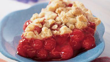 Almond Crumble Cherry Pie