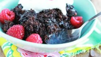 Slow-Cooker Triple Chocolate Lava Cake