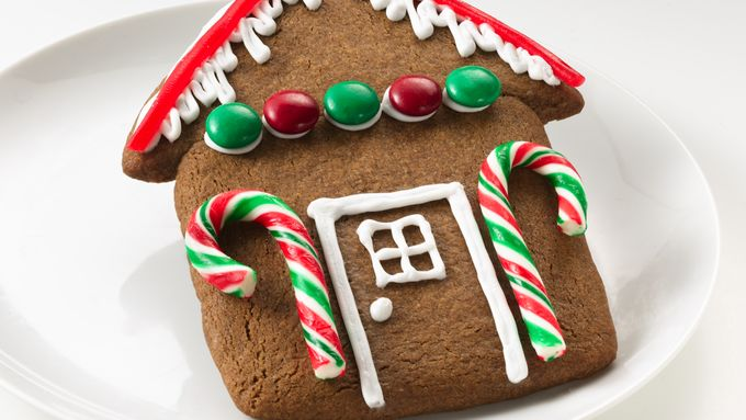 Easy Gingerbread House Cookies