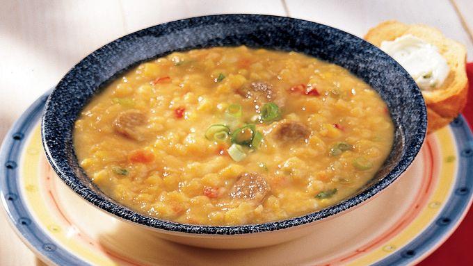 Confetti Yellow Pea Soup