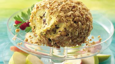 Curried Cheese Ball with Fruit