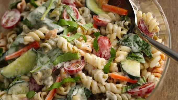 Ranch Spinach Pasta Salad