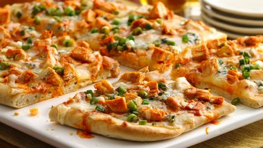 Buffalo Chicken Beer Bread Pizza