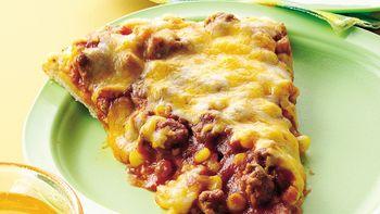 Corny Sloppy Joe Pizza