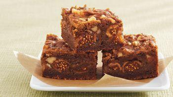Fig-Walnut Gingerbread Bars