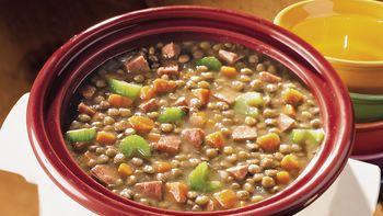 Slow-Cooker Ham and Lentil Stew