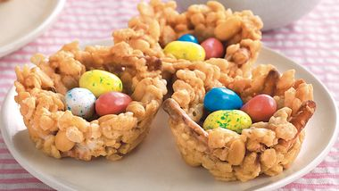 Crispy Peanut Butter Birds' Nests