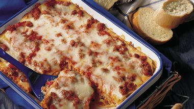 Italian Sausage Lasagna (lighter recipe)
