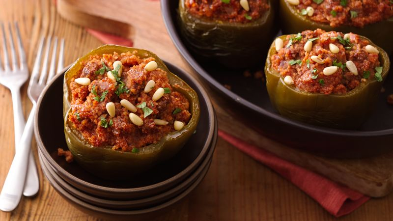 Slow-Cooker Couscous-Stuffed Peppers